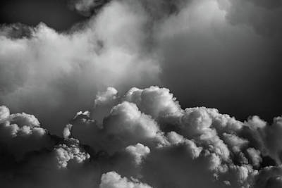 Photograph - Clouds 10 In Black And White by Greg Mimbs
