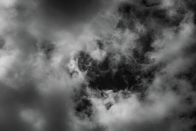 Photograph - Clouds 17 In Black And White by Greg Mimbs