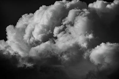 Photograph - Clouds 2 In Black And White by Greg Mimbs