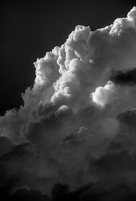 Photograph - Clouds 4 In Black And White by Greg Mimbs