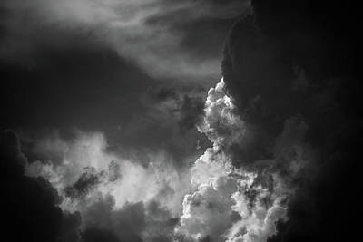 Photograph - Clouds 6 In Black And White by Greg Mimbs