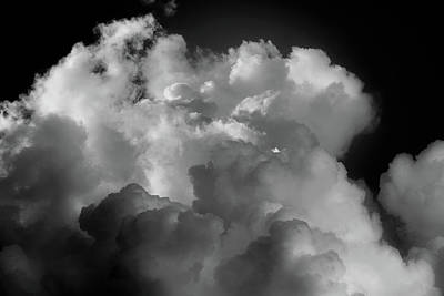 Photograph - Clouds 7 In Black And White by Greg Mimbs