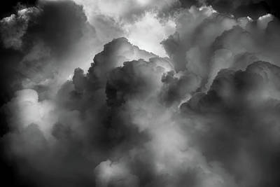 Photograph - Clouds 9 In Black And White by Greg Mimbs