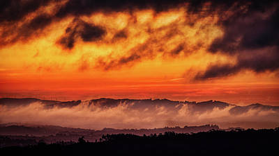 Photograph - Clouds And Fog At Sunrise - Portugal by Stuart Litoff
