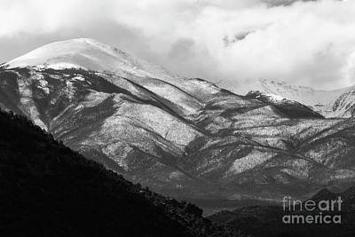 Photograph - Clouds And Fog On Mount Antero by Steve Krull