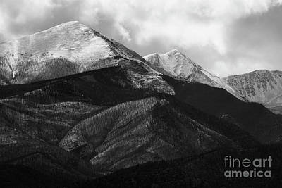 Photograph - Clouds And Fog On The Sangre De Cristo Monochrome by Steve Krull