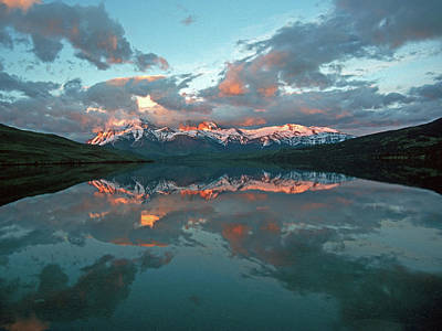 Photograph - Clouds And Mountains Reflecting In The by Mountlynx