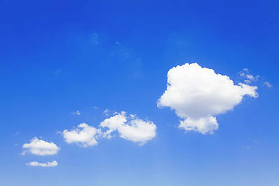 Clouds In A Blue Sky, Valensole Art Print by F. Lukasseck