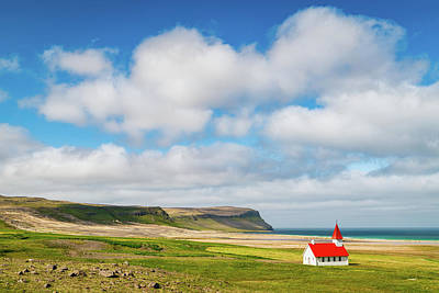 Photograph - Clouds Over Breidavik by Michael Blanchette