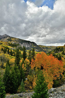 Photograph - Clouds Over Fall Colors Near Ilium Co by Ray Mathis