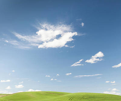 Clouds Over Green Hills Art Print by Adrian Studer