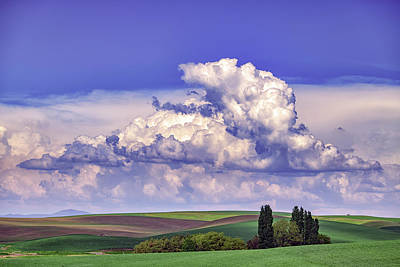 Royalty-Free and Rights-Managed Images - Clouds Over The Hills by Rick Berk