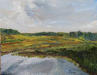 Painting - Clouds Over The Marsh by Michael Helfen