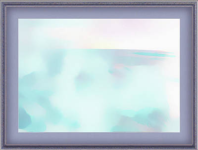 Digital Art - Clouds Over The Ocean Framed by Clive Littin
