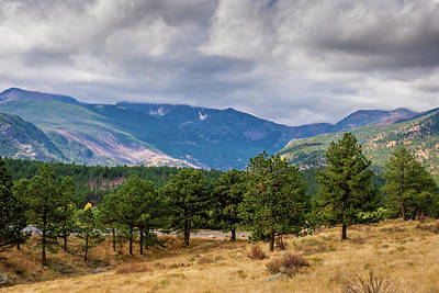 Photograph - Clouds Over The Rockies by James L Bartlett