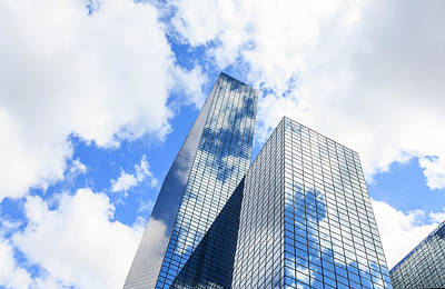 Rotterdam Photograph - Clouds Reflected In A Modern Glass by Fred Froese