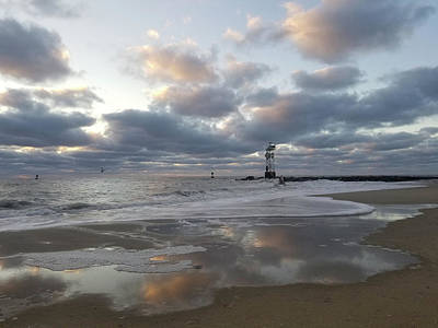 Photograph - Cloud's Reflections At The Inlet by Robert Banach