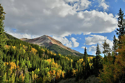 Photograph - Clouds Roll In Over Red Mountain Fall Colors by Ray Mathis