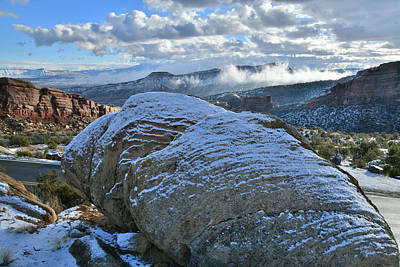 Photograph - Clouds Roll Over East Entrance Of Colorado National Monument by Ray Mathis