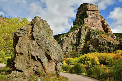 Photograph - Clouds Roll Over Glenwood Canyon Fall Colors by Ray Mathis