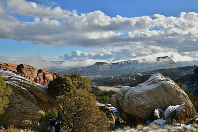 Photograph - Clouds Roll Over Tabegauche Near Colorado National Monument by Ray Mathis