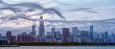 Ken Ilio Photograph - Clouds That Ate Chicago by By Ken Ilio