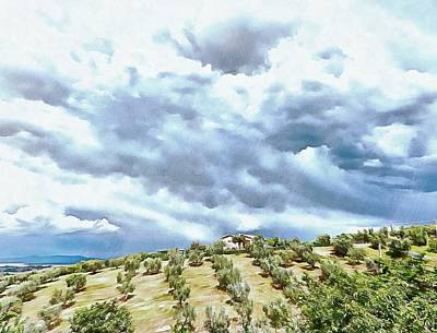 Photograph - Cloudscape Over Farmhouse  by Dorothy Berry-Lound