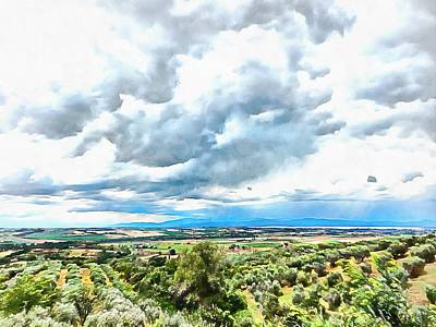 Photograph - Cloudscape Over Italian Countryside by Dorothy Berry-Lound