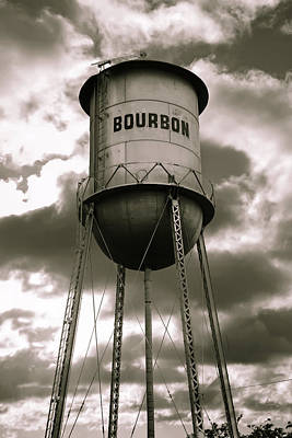 Photograph - Cloudy Bourbon Original - Sepia Edition by Gregory Ballos