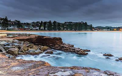 Photograph - Cloudy Coastal Sunrise Shorescape by Merrillie Redden