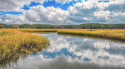 Photograph - Cloudy Day At The Estuary by Gary Slawsky