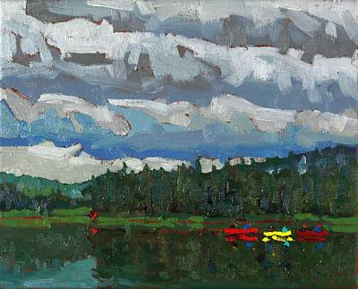 Painting - Cloudy Dumoine Evening by Phil Chadwick