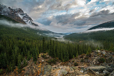 Photograph - Cloudy Morning In The Canadian Rockies by James Udall