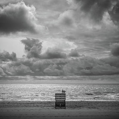 Photograph - Cloudy Morning Rough Waves by Steve Stanger