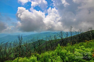 Photograph - Cloudy Mountain View by Tom Claud