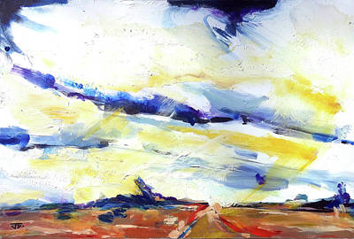 Painting - Cloudy Road by John Jr Gholson