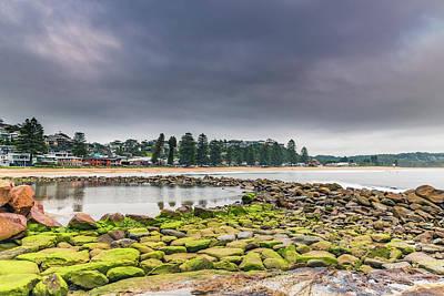 Photograph - Cloudy Sunrise Seascape And Shorescape by Merrillie Redden