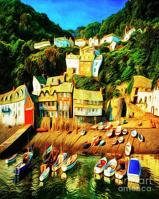 Digital Art - Clovelly by Edmund Nagele