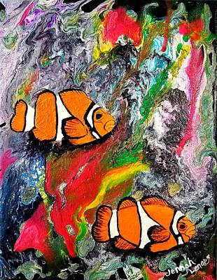 Painting - Clown Fish  by Jennah Lenae
