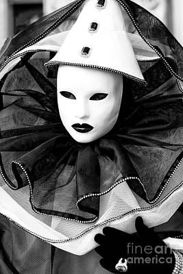 Photograph - Clown Profile At The Carnevale Di Venezia by John Rizzuto