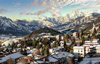 Photograph - Clusone Winter Scene by Anthony Dezenzio