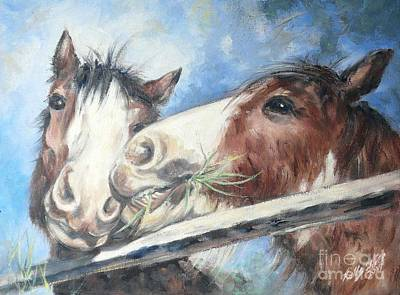 Painting - Clydesdale Pair by Ryn Shell