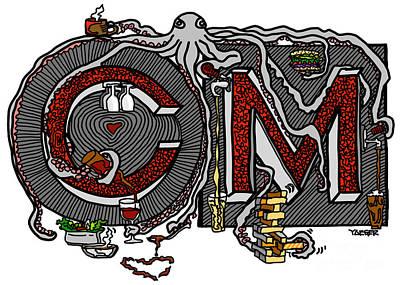 Beer Drawings - CM Design Color by Robert Yaeger
