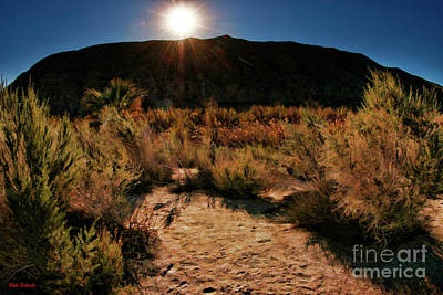 Photograph - Coachella Valley Preserve Mountain Sunset by Blake Richards