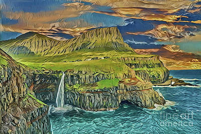 Painting - Coast A18-57 by Ray Shrewsberry