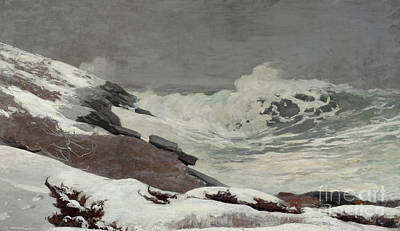 Painting - Coast In Winter, 1892 by Winslow Homer