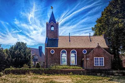 Photograph - Coastal Dutch Church In Hdr Detail by Debra and Dave Vanderlaan