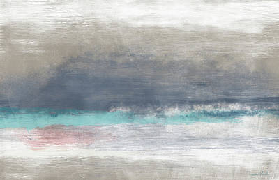 Mixed Media - Coastal Escape Landscape -abstract Art By Linda Woods by Linda Woods