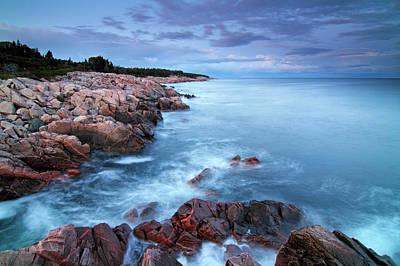 Photograph - Coastal Granite Rocks, Cape Breton by Scott Leslie/ Minden Pictures