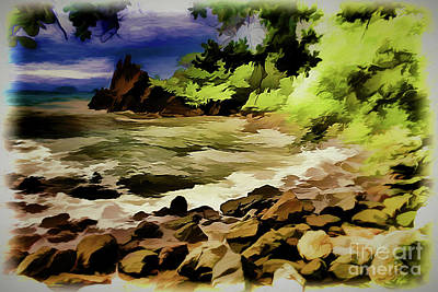 Painting - Coastal Peace A18-92 by Ray Shrewsberry